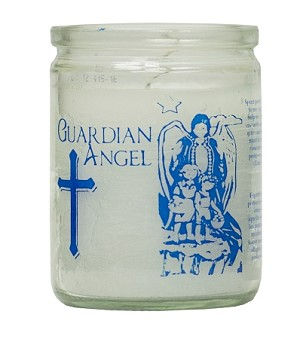 Guardian Angel 50 Hour Candle, White