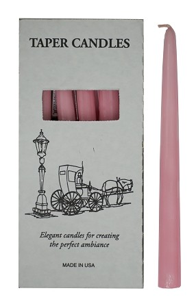 "Pink Tapers 10"", Box of 12"