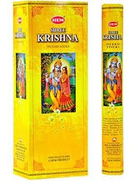 Shree Krishna Incense Sticks, Hex Pack - 6 Boxes of 20 Sticks (120 Sticks)