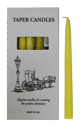"Yellow Tapers 10"", Box of 12"