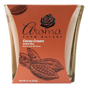 Aroma from Nature Scented Candle - Cacao Cream, 11oz