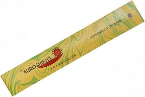 Auroshikha Marble Incense Sticks, Citronella, 10 Packs of 10 Sticks