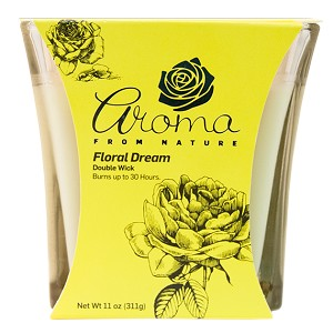 Aroma from Nature Scented Candle - Floral Dream, 11oz