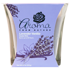 Aroma from Nature Scented Candle - Lavender Vanilla, 11oz