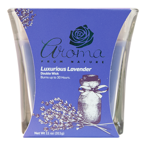 Aroma from Nature Scented Candle - Luxurious Lavender, 11oz
