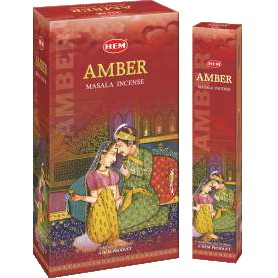 Amber Royal Masala Natural Incense Sticks, 12 Boxes of 15 Sticks