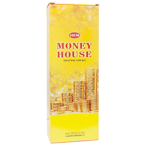 Money House Incense Sticks, Hex Pack - 6 Boxes of 20 Sticks (120 Sticks)
