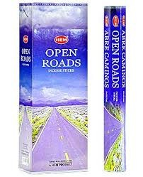Open Roads Incense Sticks, Hex Pack - 6 Boxes of 20 Sticks (120 Sticks)