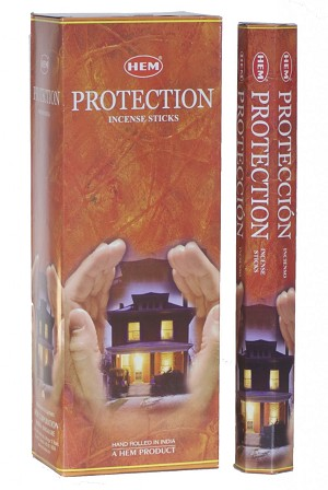 Protection Incense Sticks, Hex Pack - 6 Boxes of 20 Sticks (120 Sticks)