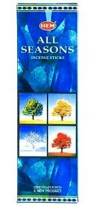 All Seasons Incense Sticks, Sq. Pk - 25 Boxes of 8 Sticks (200 Sticks)