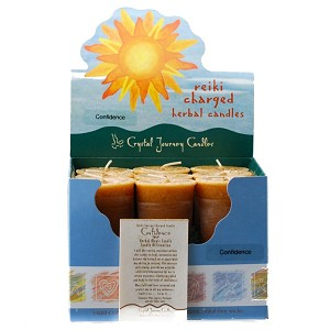 Confidence Herbal Votive Candles, Box/18