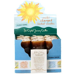 Problem Solving Herbal Votive Candles, Box/18