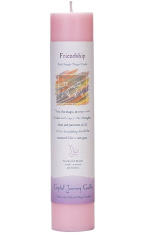 Friendship Herbal Magic Pillar Candle