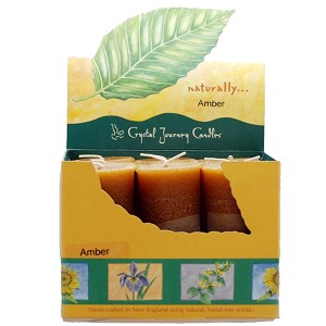 Amber Scented Votive Candles, Box/18