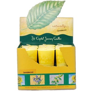 Sandalwood Scented Votive Candles, Box/18