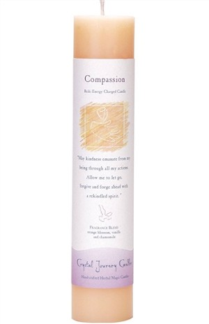 Compassion Herbal Magic Pillar Candle