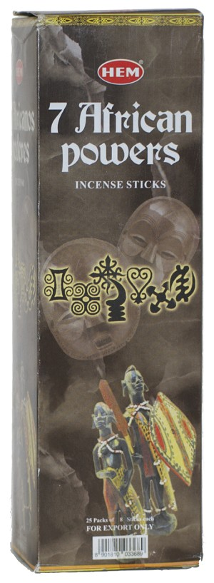 7 African Powers Incense Sticks, Sq. Pk - 25 Boxes of 8 Sticks (200 Sticks)