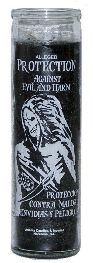 Protection Against Evil & Harm 7 Day Candle, Black
