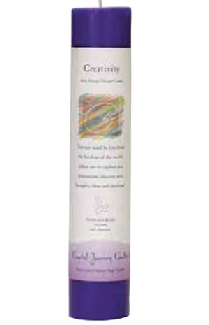 Creativity Herbal Magic Pillar Candle