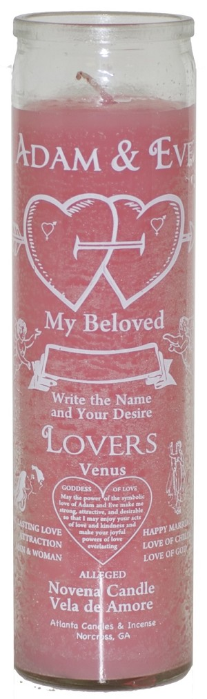 Adam & Eve 7 Day Candle, Pink