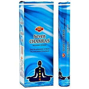 7 Chakras Incense Sticks, Hex Pack, SAC, Bx/6