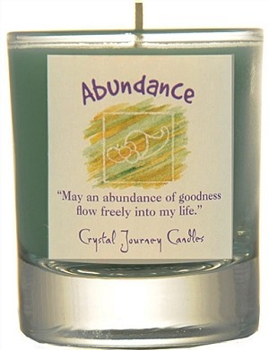 Abundance Soy Filled Glass Votive Candle
