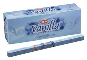Vanilla Incense Sticks, Sq. Pk - 25 Boxes of 8 Sticks (200 Sticks)