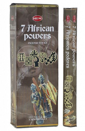 7 African Powers Incense Sticks, Hex Pack - 6 Boxes of 20 Sticks (120 Sticks)