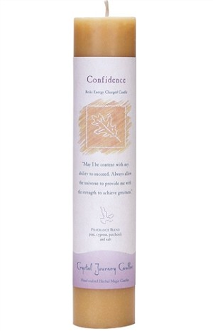 Confidence Herbal Magic Pillar Candle