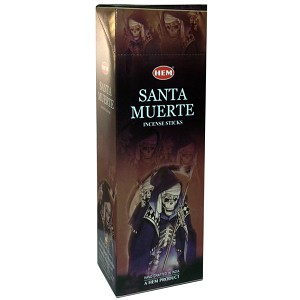Santa Muerte Incense Sticks, Hex Pack - 6 Boxes of 20 Sticks (120 Sticks)