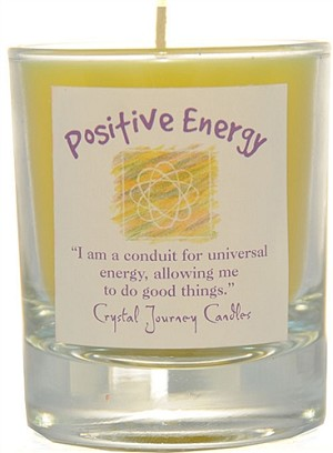 Positive Energy Soy Filled Glass Votive Candle