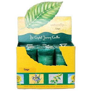 Sage Scented Votive Candles, Box/18