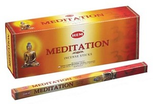 Meditation Incense Sticks, Sq. Pk - 25 Boxes of 8 Sticks (200 Sticks)