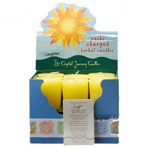 Laughter Herbal Votive Candles, Box/18
