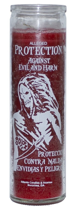 Protection Against Evil & Harm 7 Day Candle, Red