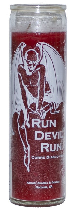 Run Devil Run 7 Day Candle, Red