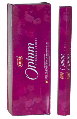 Opium Incense Sticks, Hex Pack - 6 Boxes of 20 Sticks (120 Sticks)