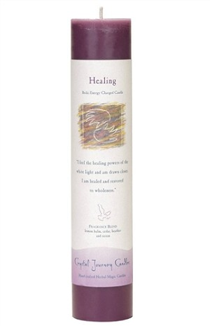Healing Herbal Magic Pillar Candle