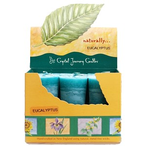 Eucalyptus Scented Votive Candles, Box/18