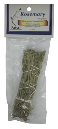 "Rosemary Smudge Stick - 4"" Long, Packaged, Each"