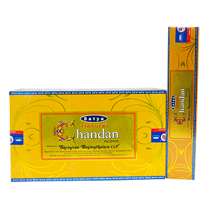 Natural Sandal Incense Sticks 15 Gram, Satya (12 Boxes of 15 Sticks = 180 Sticks)