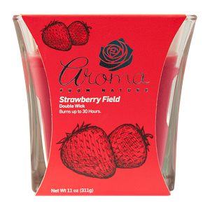 Aroma from Nature Scented Candle - Strawberry Field, 11oz