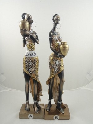 AFRICAN WOMEN STATUES STYLE 1 (SET OF 2)