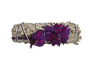 "White Sage & Purple Daisies Smudge Stick - 3-4"" Long, Each"