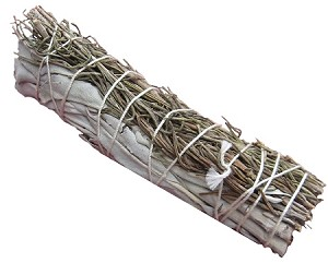 "White Sage & Rosemary Smudge Stick - 4"" Long, Each"