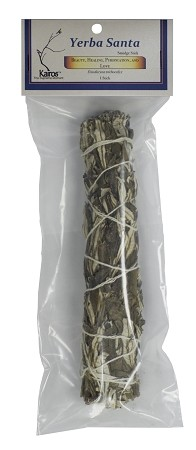 "Yerba Santa Smudge Stick - 8"" Long, Packaged, Each"